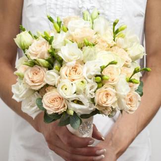 Bride's Bouquet with Creamy...