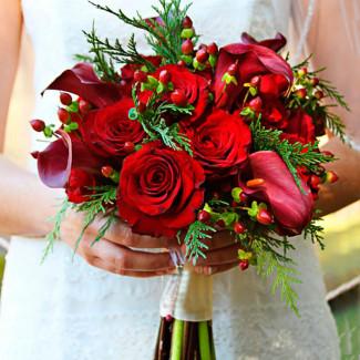 Bridal Bouquet of Burgundy...
