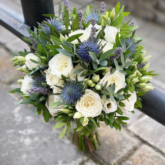 Bridal Bouquet with Eringium
