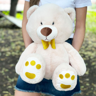 Bear Tishka White - 56 cm