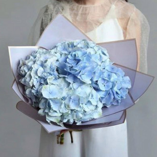 """Bouquet """" Blue Hydrangeas"""""""