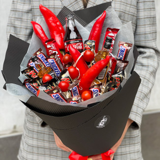 """Bouquet for Men """"The Red..."""