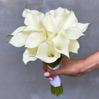 White Calla Bridal Bouquet