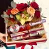 Подарочный набор с мартини и макарунс     фото