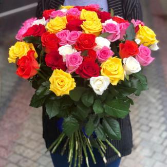 51 Роза Ассорти 50-60 см