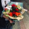 Букет с зелёной орхидеей фото