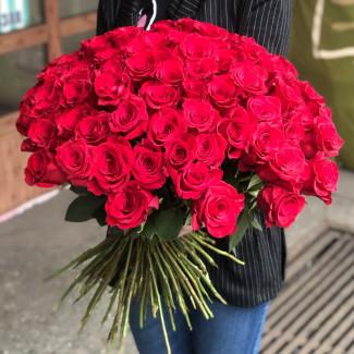 101 Trandafiri Roșii 30-40 cm