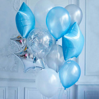 "Helium Balloons Set ""Blue..."