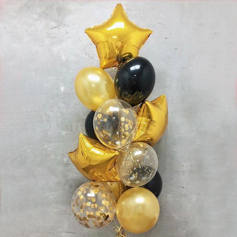 Baloane stele aurii fotografie