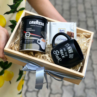 Gift Box with Coffe and Mug