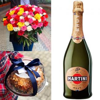 Set of Roses / Cake / Asti...
