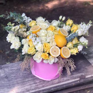 """Flowers in a box """"Lemon..."""