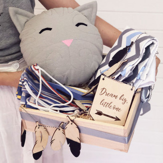"Kids' Gift Box ""Gray Kitten"""