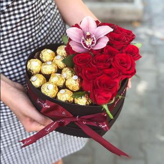Сердце с Ferrero Rocher...