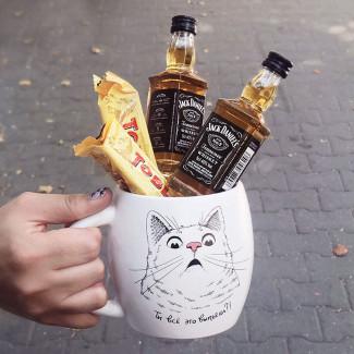 "Gift Mug ""Surprized Cat"""