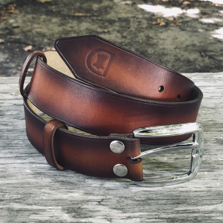 Brown Belt with Engraving