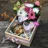 Gift set with honey and tea photo