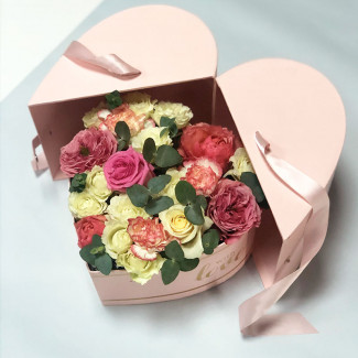 Flowers in a Heart Box...